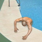 Tired swimmer