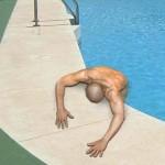 Tired swimmer